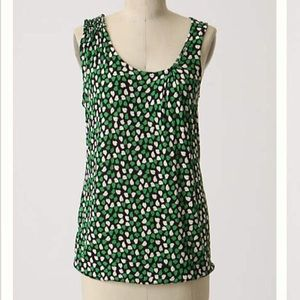 Anthro Little Yellow Button Dawns Bloom Tank